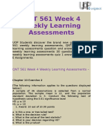 QNT 561 Weekly Learning Assessments | Questions and Answers @ UOP E Assignments