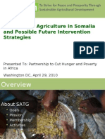 State of the Agriculture in Somalia and Possible Future Intervention Strategies