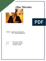 Javier Villar Morales Curriculum
