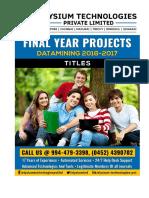 Elysium Technologies Dataminig 2016-17 Titles