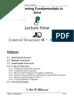 computer programing alnahrain unversity Lecture-9