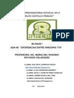 """Ada#5 """"Diferencias Entre Windows 7y8"""""""