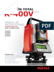 Manual de usuario estación topografica pentax R-400 vn