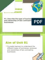 business environemnt Unit 1 - P1