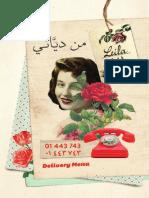 Leila Delivery Menu