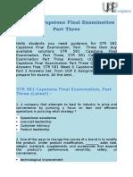 STR 581 Capstone Final Exam Part Three Answers @ UOP E AssignmentsSTR 581 Capstone Final Examination Part 3