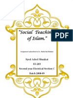 Social Teachings of Islam - (Adeel)