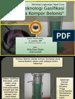 Teknologi Lingkungan Tepat Guna - Gasifikasi Biomassa Kompor Belonio