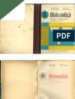 Geometrie Si Trigonometrie - Manual Pentru Clasa a IX-A Cota & Mariana Radutiu & Marta Rado & Florica Vornicesu