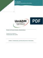 Unidad 1. Fundamentos y Practicas Del Proceso Comunicativo