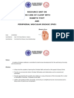 Diabetic Foot and PVD