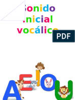 Sonido vocálico inicial