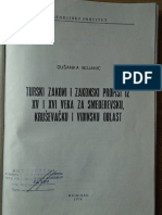 D. Bojanic, Turski Zakoni i Zakonski Propisi Iz 15 i 16 Veka
