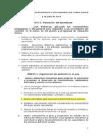 Competencias Profesionales y Sus Unidades de Competencia 1 de Julio 2011