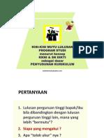 Kisi-Kisi Mutu Lulusan Program Studi Menurut Konsep KKNI & SN DIKTI Sebagai Dasar Penyusunan Kurikulum