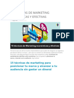 15 Técnicas de Marketing Económicas y Efectivas