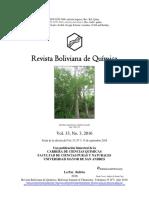 Revista Boliviana de Química, Presentación