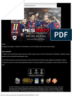 Manual Online Do PES2017_Pro Evolution Soccer 2017
