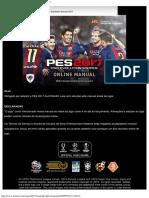 Manual Online Do PES2017_Pro Evolution Soccer 2017