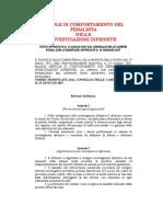 Regole Di Comportamento Del Penalista nelle investigazioni difensive
