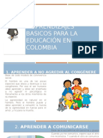 7 Aprendizajes Basicos Para La Educación en Colombia