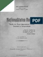 Naţionalitatea română