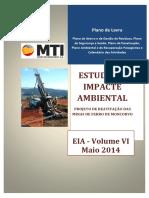 1 EIA 2014 Volume v Plano de Lavra Capa
