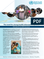 WHO _ the Need for Strong Health Information Systems - Rationale for the HMN Framework