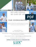 F&B Coordinator