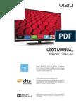User Manual Vizio E550iA0