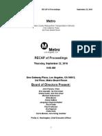 Sept. Metro Board recap