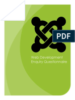 Web Development QuesWeb-Development-Questionnairetionnaire 2015