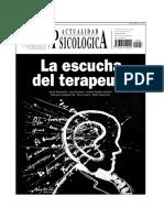 Actualidad Psicologica 408 La Escucha Del Terapeuta