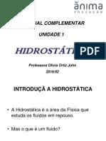 Resumo Da Unidade 1 - Hidrostática