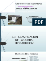 1.3 Clasificación de las obras hidráulicas
