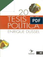 Enrique Dussel - 20 Tésis de Política