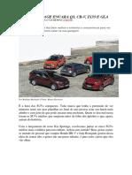 Car and Drive - Novo Sportage Encara q3, Cr-V, Ix35 e Gla