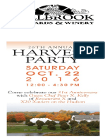 Millbrook Vineyard & Winery Harvest Party Invitation