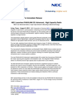 PR NEC Service Provider Unit Launches IPASOLINK EX Advanced 8-9-16