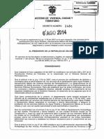 Decreto 1484 - 2014
