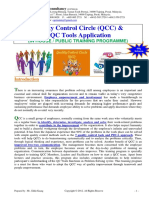 Quality Control Circle QCC & 7 QC Tools Training Course Outline