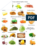 Alimentos Que Contienen Lípidos o Grasas, Vitamina a y B