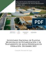 Inventario Nacional de Planta Municipales de Potabilizacion y TAR_2013