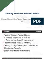 10.20 Testing Telecom Packet Clocks Kishan Shenoi