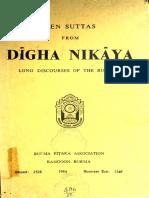 482. Ten Suttas From Digha Nikaya (Long Discourses of the Buddha) - Burma Pitaka