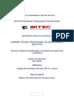 Informe de Practicas Bitec Rebeca Palacios