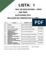 LISTA 1 UNE PERÚ_Gilberto Meza Aguirre_2016