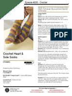 Redheart Crochet Socks