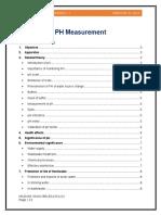 Measurement of pH of Water