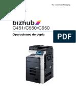 Bizhub c451 c550 c650 Copy Es